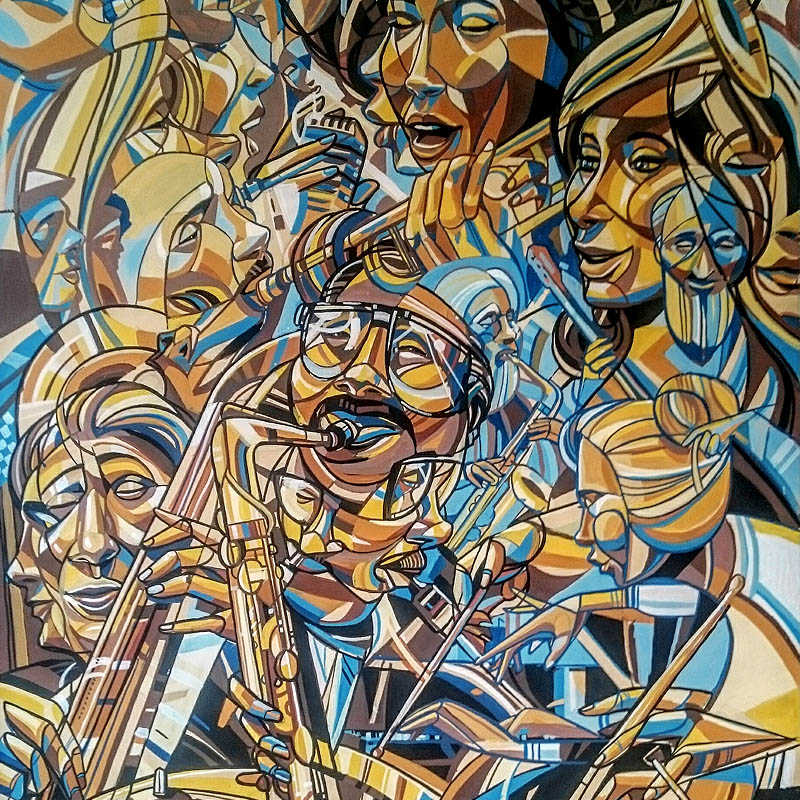 """Generations of Jazz"" / 70x100cm / 2017"