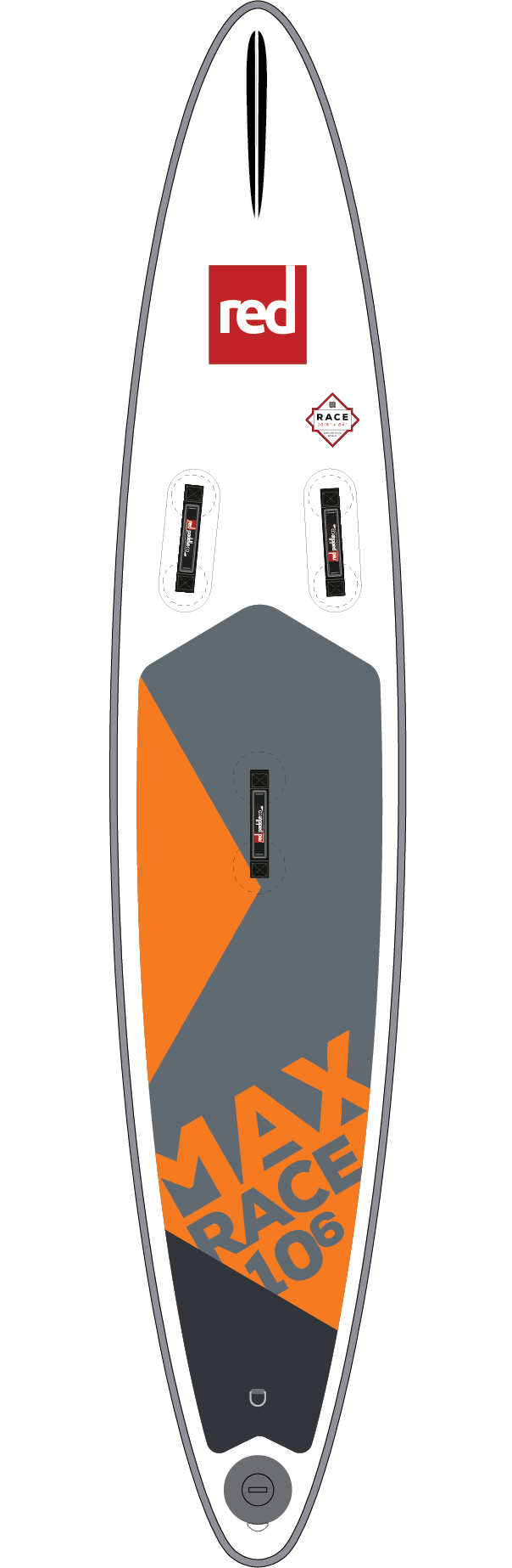 "Red 10'6"" x 24"" Max Race"