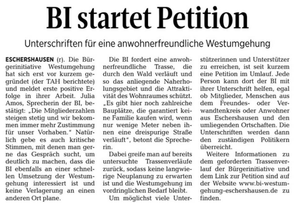 BI startet Petition_01092018jpg