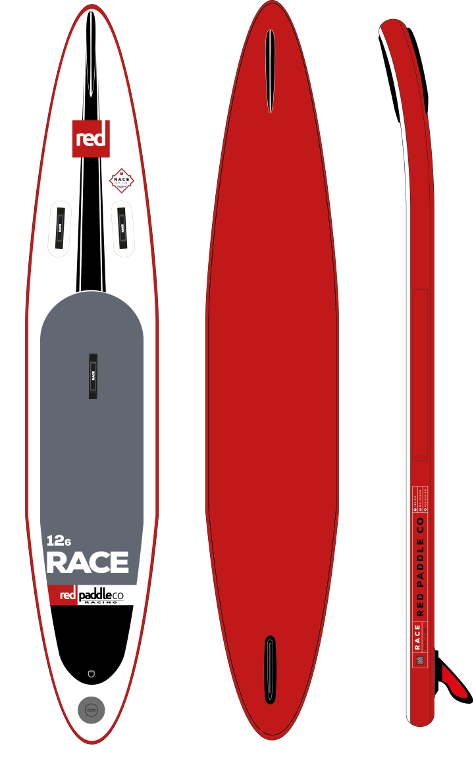 "Red 12'6"" Race (2017er Modell - NEU)"